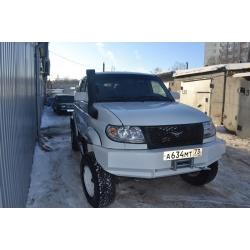 "Бампер ""Т-34"" передний усиленный на УАЗ Патриот"