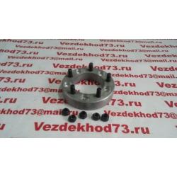 Расширитель колеи (проставка ступичная) алюминий с шпильками