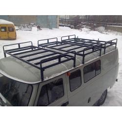 """Багажник на УАЗ 452 буханку """"Круиз"""" 3-х секционный"""
