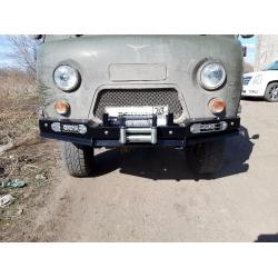 Бампер силовой УАЗ-452 передний РУБИКОН-1 без кенгурина