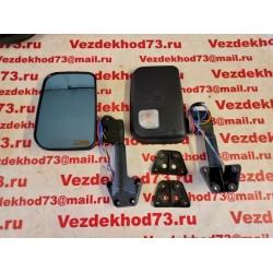 Зеркало заднего вида боковое УАЗ 469, 3151, Хантер с белым повторителем поворота, обогревом, голубой антиблик