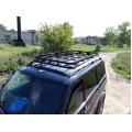 """Багажник УАЗ Патриот """"Скрытый"""" Корзина крепление в водосток с сохранением рейлингов"""